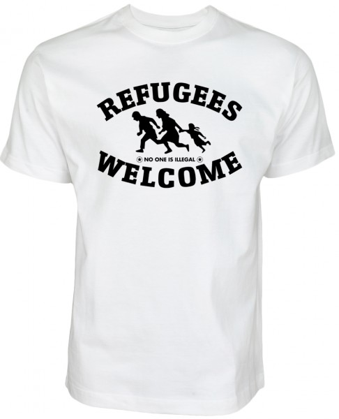 Refugees welcome Shirt Weiß - Nobody is illegal