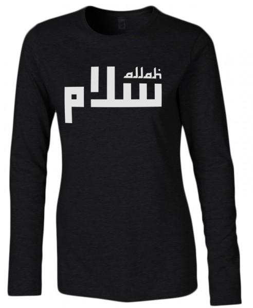 Allah Lines Halal-Wear women Langarm T-Shirt