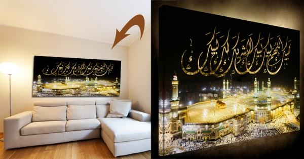 Kaaba Mekka Foto Leinwand Islamische Leinwandbilder