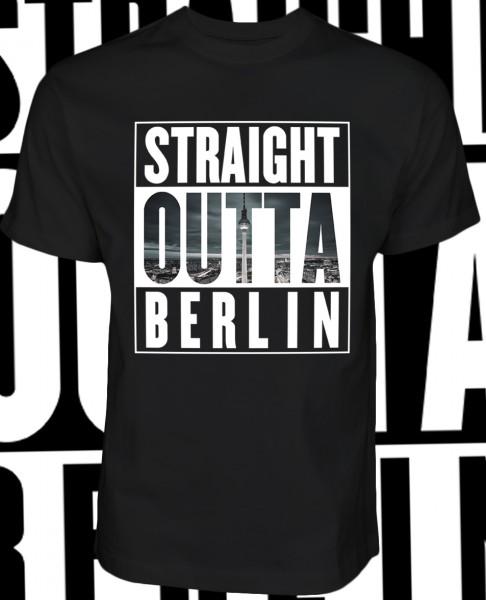 Straight Outta Berlin Fernsehturm Shirt T-Shirt Black Schwarz