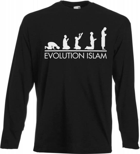 Evolution Islam Langarm T-Shirt - Muslim Halal Wear Black