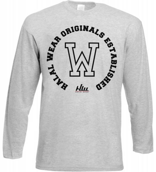 Halal Wear Original Established Langarm T-Shirt - Muslim Halal Wear Grey