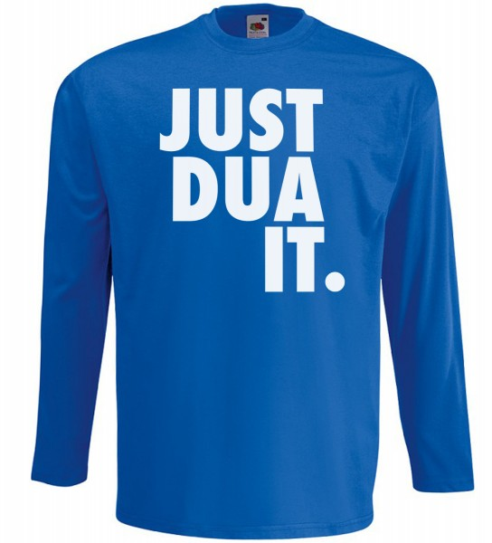 Just Dua IT Langarm T-Shirt - Muslim Halal Wear Blau