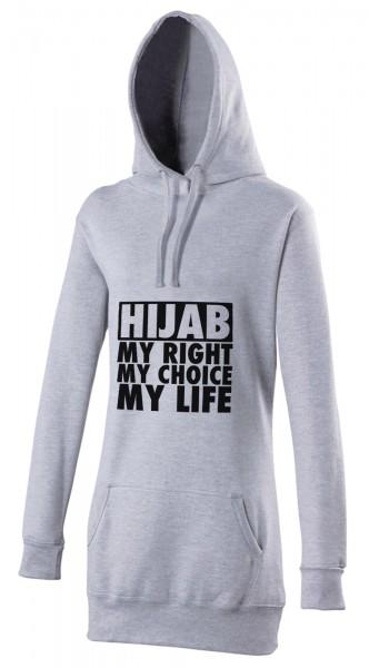 HIJAB my right my choice my life Halal-Wear women's Hijab hoodie