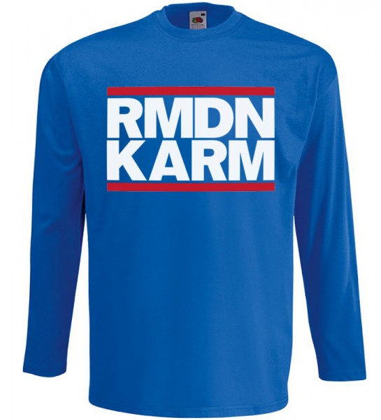Ramadan Kareem Langarm T-Shirt Halal Wear Blau