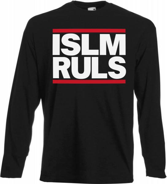 Islam Rules Langarm T-Shirt - Muslim Halal Wear Black