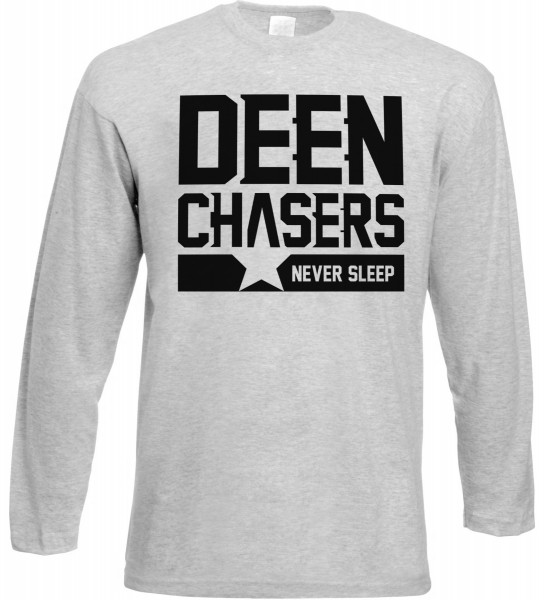 Deen Chasers Langarm T-Shirt - Muslim Halal Wear Grey