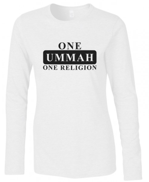 One Ummah one Religion Halal-Wear women Langarm T-Shirt