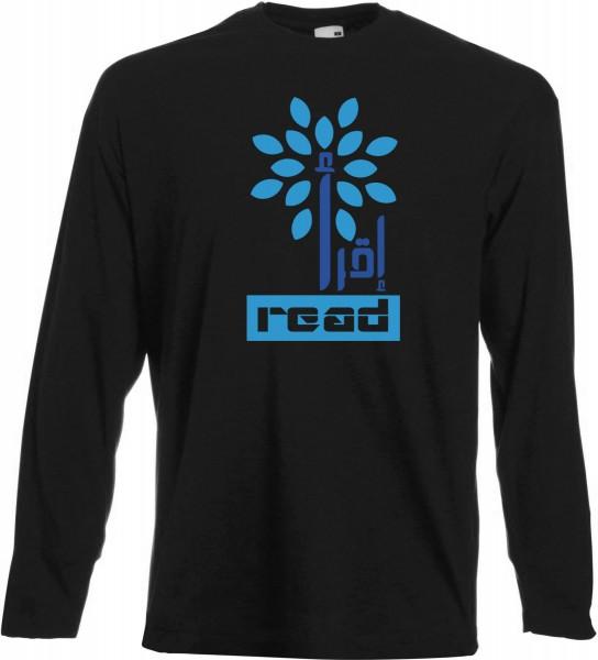 Iqra Read the Quran Langarm T-Shirt - Muslim Halal Wear Black