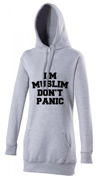 I am Muslim dont panic Halal-Wear women's Hijab hoodie