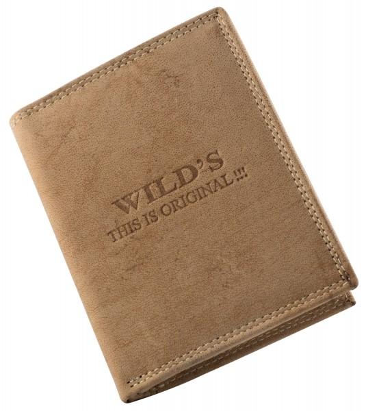 Herren Leder Geldbörse W01 Hellbraun Geldbeutel Portemonnaie Brieftasche Portmonee