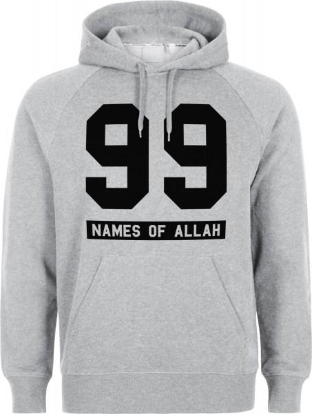 99 Names of Allah Halal-Wear Kapuzenpullover Sweatshirt Hoodi