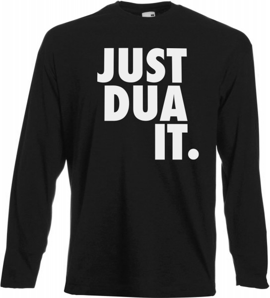 Just Dua IT -Rechtsbündig Langarm T-Shirt - Muslim Halal Wear Black