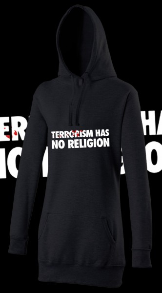 Terrorism has no Religion Woman Damen Hoody Hoodie Black Schwarz