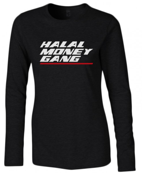 Halal Money Gang Halal-Wear women Langarm T-Shirt