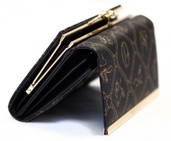 Giulia Pieralli Damen Geldbörse 0444 Nero Schwarz Frauen Portemonnaie Geldtasche