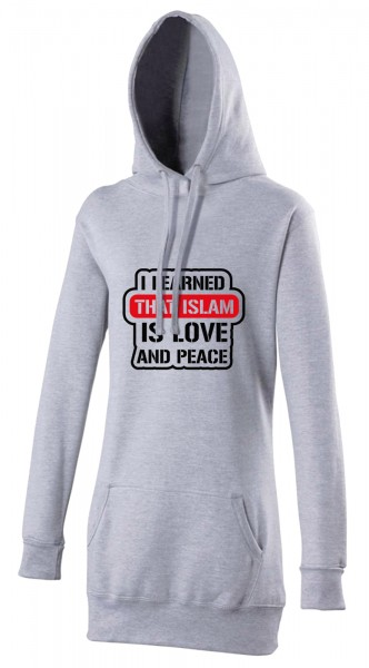 I learned that ISLAM is love and peace Halal-Wear women's Hijab hoodie