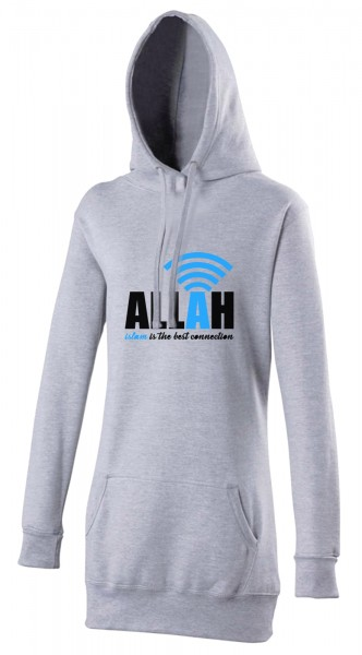 Islam is the best connection to Allah Halal-Wear women's Hijab hoodie