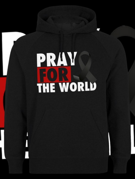 Pray for the World Kapuzenpullover Hoody Hoodie Black Schwarz