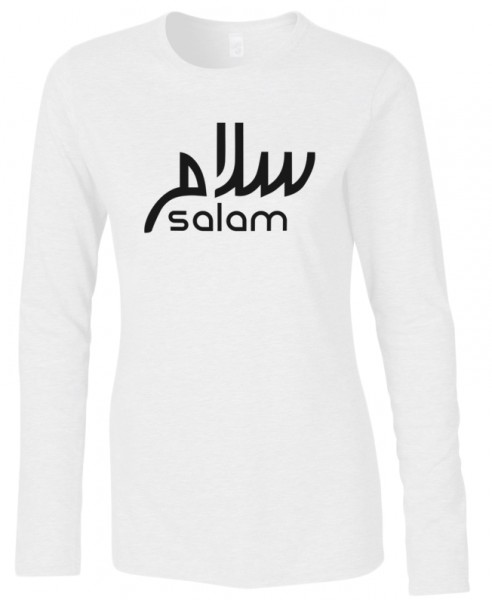 Salam Freedom Peace Halal-Wear women Langarm T-Shirt