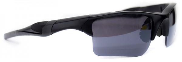Sportliche Herren Sonnenbrille schwarzer Rahmen schwarze Linse UV400  #LS6614