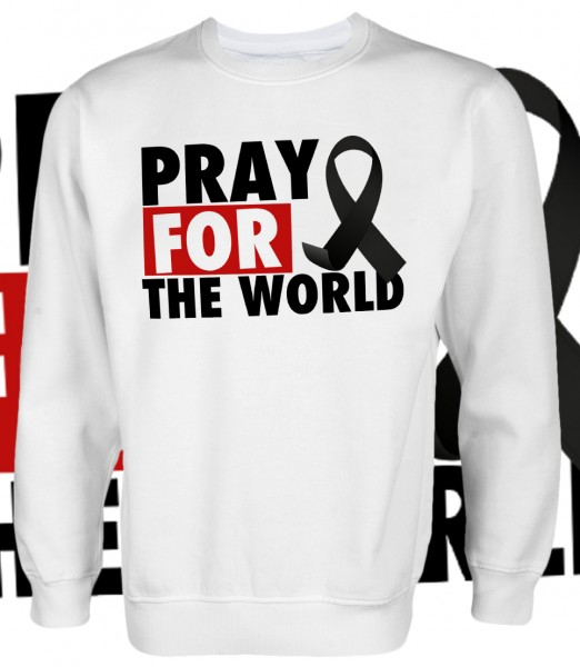 Pray for the World Pullover White Weiß