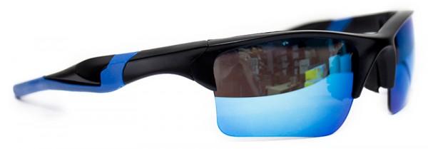 Sportliche Herren Sonnenbrille blauer Rahmen blaue Linse UV400  #LS6614