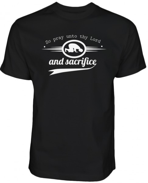 So pray unto thy Lord and sacrifice Sure Al-Kauthar HALAL Wear T-Shirt