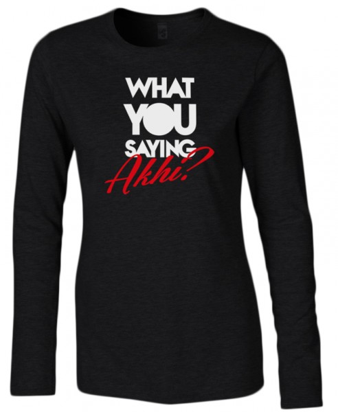 What you saying Akhi? Halal-Wear women Langarm T-Shirt