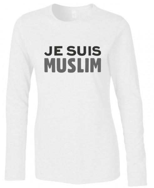 Je Suis Muslim Halal-Wear women Langarm T-Shirt
