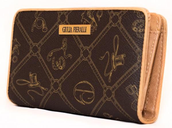 Giulia Pieralli Damen Geldbörse 0616 Coffee Braun Frauen Portemonnaie Geldtasche