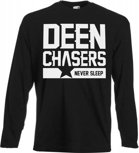 DEEN CHASERS never sleep Langarm T-Shirt - Muslim Halal Wear