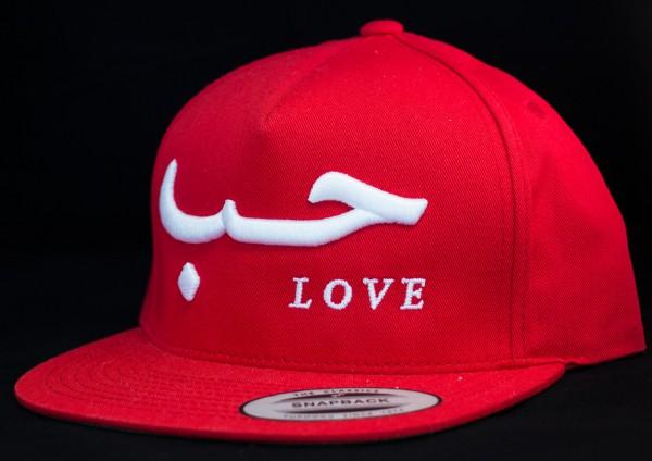 Love Snapback Rot mit weißer 3D Aufschrift
