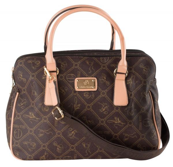 Damen Handtasche / Umhängetasche Giulia Pieralli 28905A Henkeltasche Braun