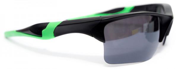 Sportliche Herren Sonnenbrille grüner Rahmen schwarze Linse UV400