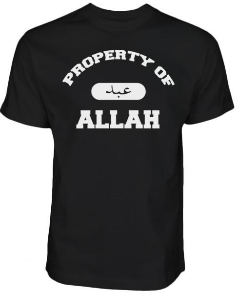 Property of Allah - EIgentum von Allah - Halal Wear - Islam T-Shirt