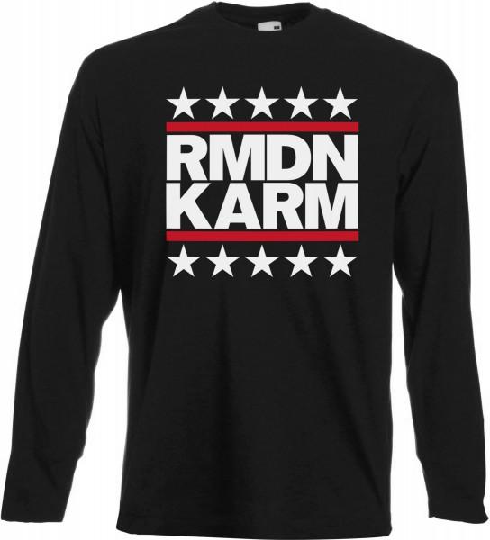 Ramadan Kareem Stars Langarm T-Shirt - Muslim Halal Wear Black