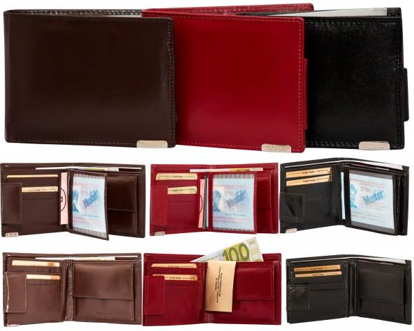Herren Portemonnaie Geldbörse Leder Dragon G1013 Querformat Geldbeutel Brieftasche