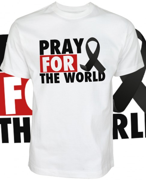 Pray for the World Shirt T-Shirt White Weiß