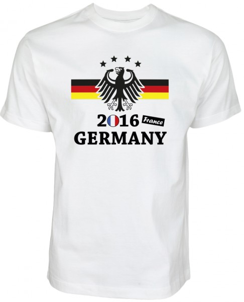 EM 2016 Fanshirt Germany - France mit dem Bundesadler