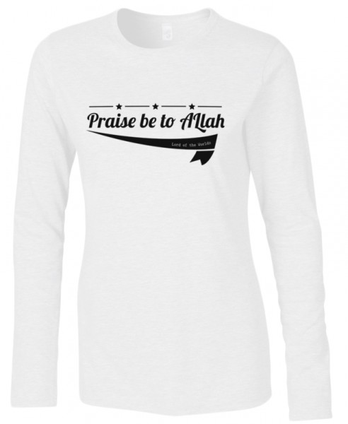 Koran Sure Alfatiha Prais be to Allah Lord of the Worlds Halal-Wear women Langarm T-Shirt