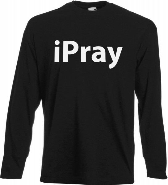 iPray Langarm T-Shirt - Muslim Halal Wear Black