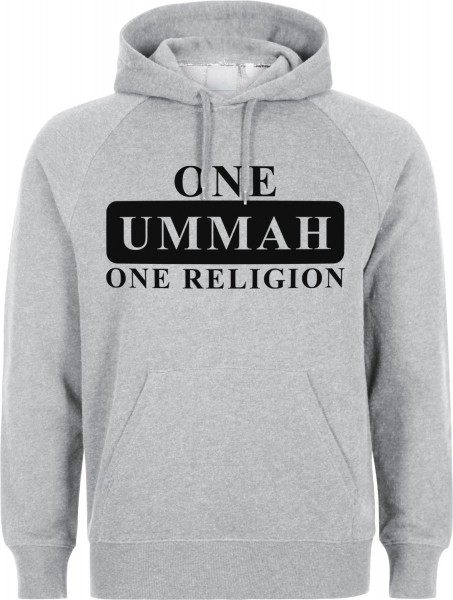 One Ummah One Religion Halal-Wear Kapuzenpullover Sweatshirt Hoody