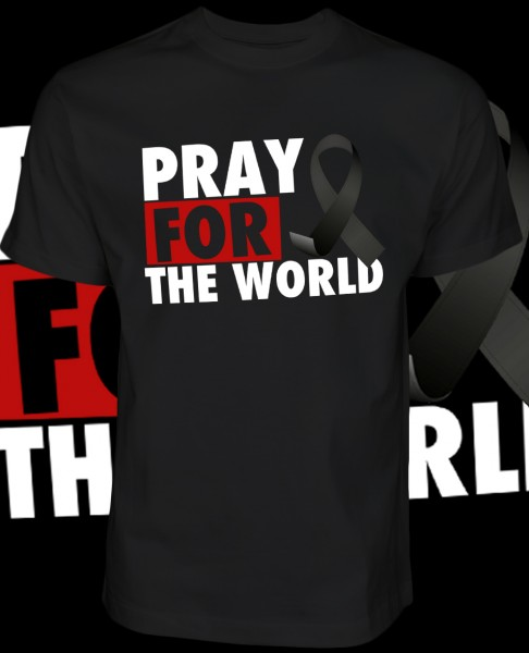 Pray for the World Shirt T-Shirt Black Schwarz
