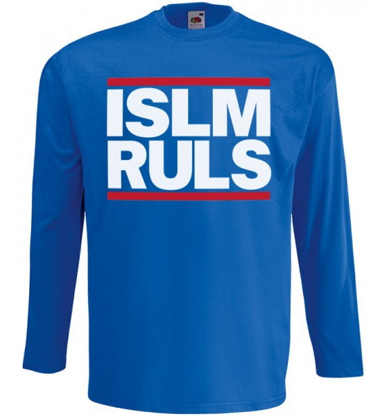 Islam Rules Langarm T-Shirt Halal Wear Blau