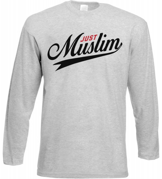 Just Muslim Langarm T-Shirt - Muslim Halal Wear Grey