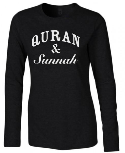 Quran & Sunnah Halal-Wear women Langarm T-Shirt