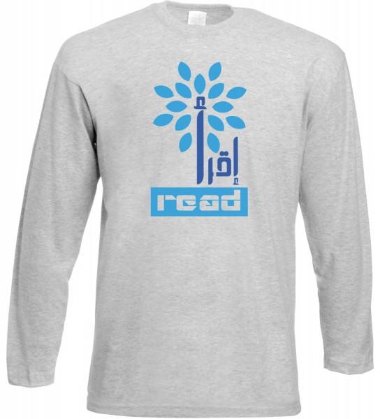 Iqra - Read the Quran Langarm T-Shirt - Muslim Halal Wear Grey