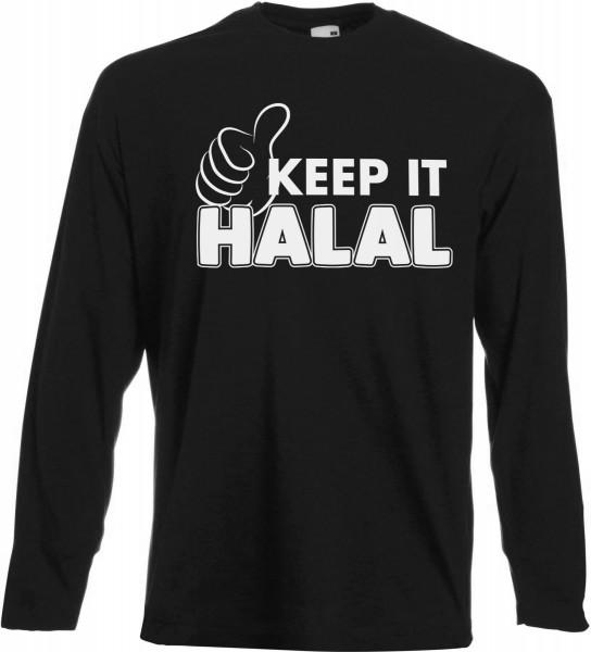 Keep it Halal Langarm T-Shirt - Muslim Halal Wear Black