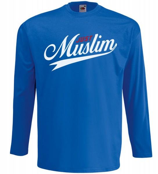 Just Muslim Langarm T-Shirt - Muslim Halal Wear Blau